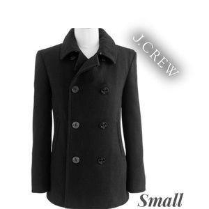 J Crew Wool Cashmere Blend Black Peacoat🔥S